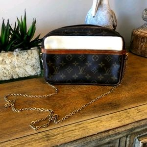 Authentic LV Crossbody with Chain
